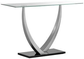 KONSOL - silver/svart, Design, metall/glas (120/77/40cm) - Xora