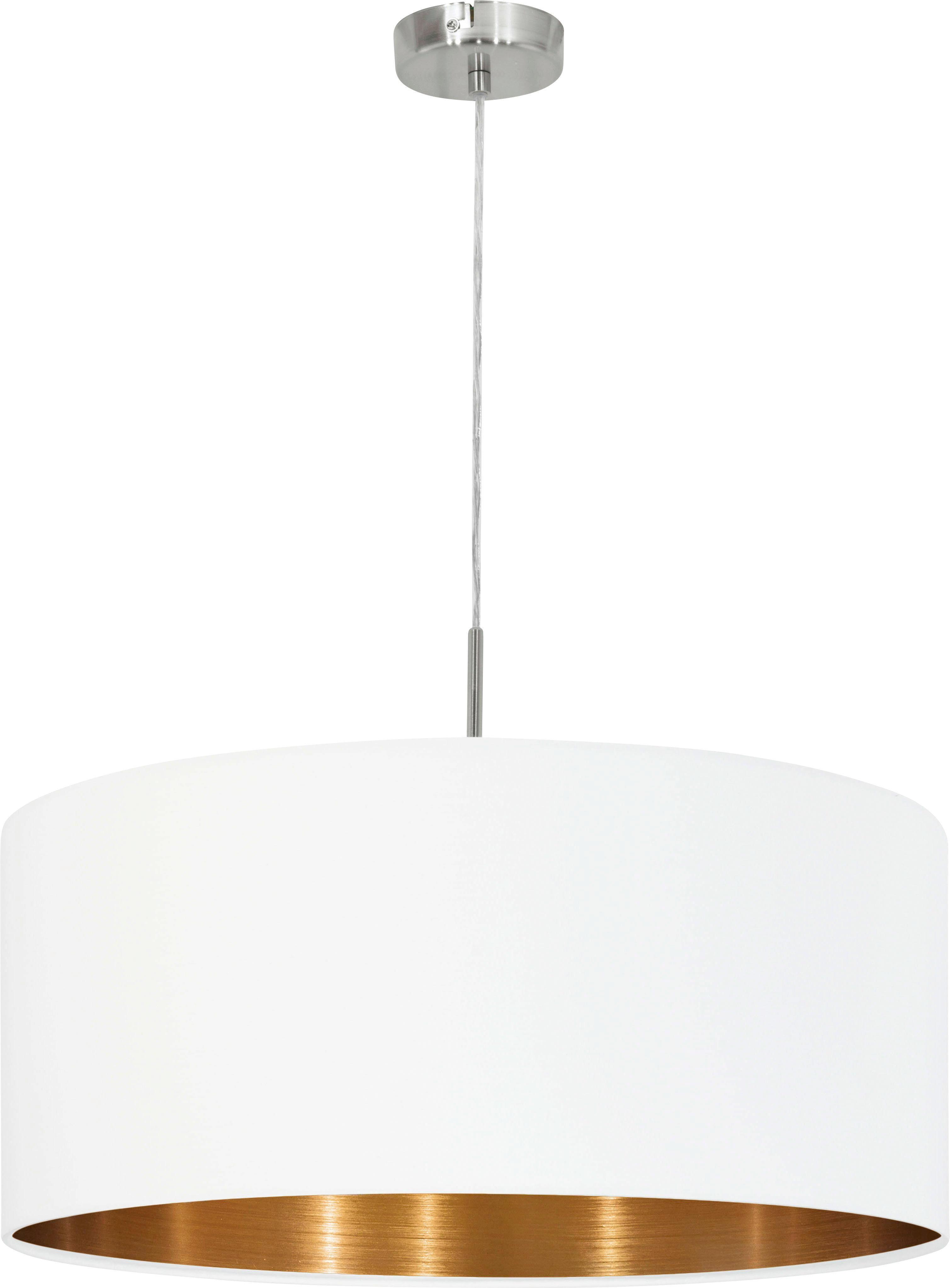 SVÍTIDLO ZÁVĚSNÉ - bílá/měděné barvy, Lifestyle, kov/textil (53/110cm) - NOVEL