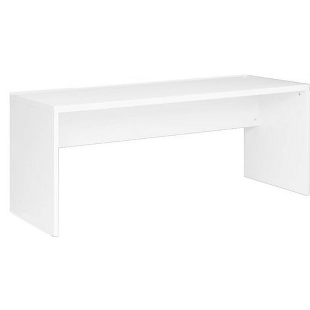 Image of Carryhome Schreibtisch 68/180/76,7 cm in weiss , Glossy , Holzwerkstoff , 180x76.7 cm , Hochglanz, Melamin,Nachbildung , 002358000703