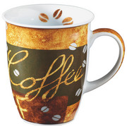 KAFFEEBECHER 355 ml - Braun, KONVENTIONELL, Keramik (0.320l) - Ritzenhoff Breker
