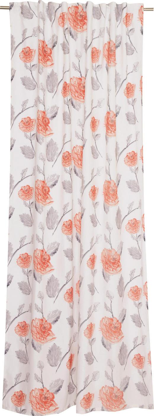 VORHANGSCHAL  blickdicht   130/250 cm - Creme/Orange, Textil (130/250cm) - Schöner Wohnen