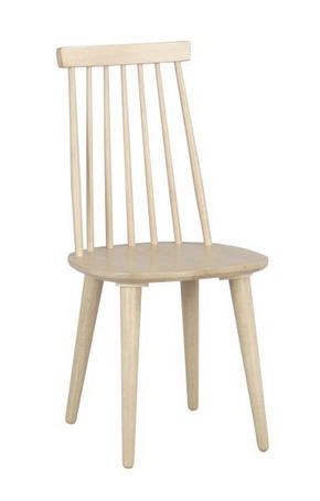 STOL - vit/naturfärgad, Design, trä/träbaserade material (43/92/50cm) - Rowico
