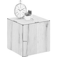 BEISTELLTISCH Wildeiche mehrschichtige Massivholzplatte (Tischlerplatte) quadratisch Eichefarben - Eichefarben, KONVENTIONELL, Holz (34,4/34,9/34,4cm) - VOGLAUER