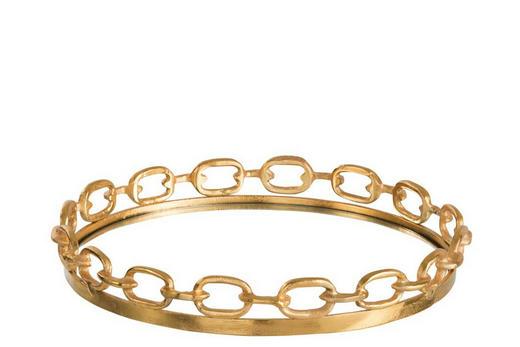 DEKOTABLETT - Goldfarben, Trend, Glas/Metall (43/6cm)