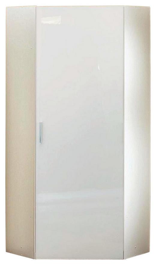 ECKSCHRANK Weiß - Chromfarben/Weiß, KONVENTIONELL, Holzwerkstoff/Kunststoff (80/185/80cm) - Xora