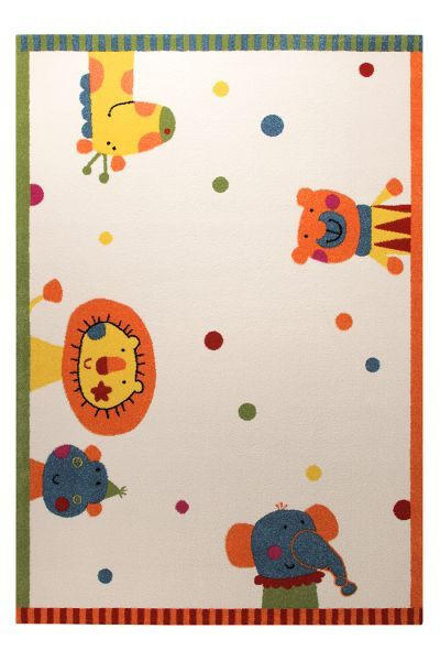 KINDERTEPPICH  80/150 cm  Multicolor, Weiß - Multicolor/Weiß, Basics, Textil (80/150cm) - Sigikid
