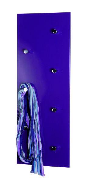 VJEŠALICA ZIDNA - boje kroma/kupina, Design, drvo/metal (80/30/5,5cm) - BOXXX
