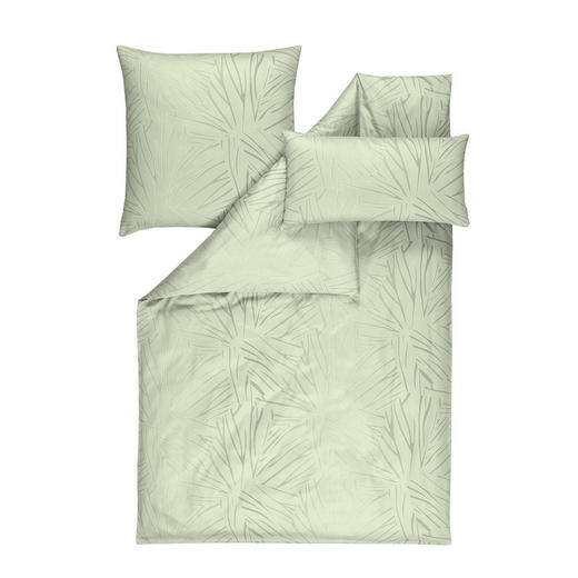 BETTWÄSCHE Makosatin Jadegrün - Jadegrün, KONVENTIONELL, Textil (27/38/2,5cm) - Estella