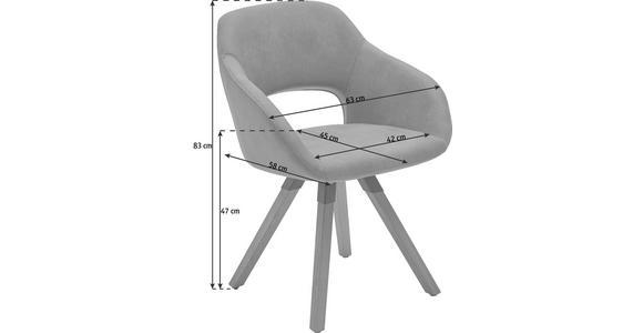 STUHL Mikrofaser Balkeneiche massiv Eichefarben, Schlammfarben - Schlammfarben/Eichefarben, Design, Holz/Textil (63/83/58cm) - Valnatura