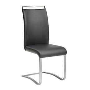 SVIKTSTOL - svart/rostfritt stål-färgad, Design, metall/textil (43/103/52cm) - Novel