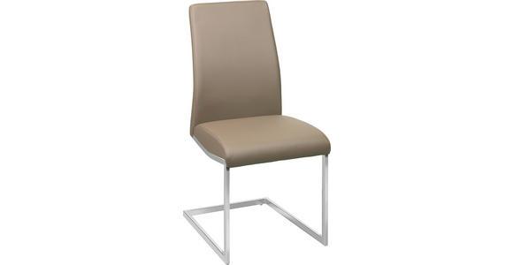 SCHWINGSTUHL in Metall, Textil Braun, Chromfarben  - Chromfarben/Braun, Design, Textil/Metall (45/96/58,5cm) - Xora