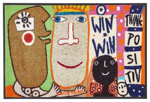 FUßMATTE 60/180 cm Abstraktes Beige, Multicolor - Beige/Multicolor, Basics, Kunststoff/Textil (60/180cm) - Esposa