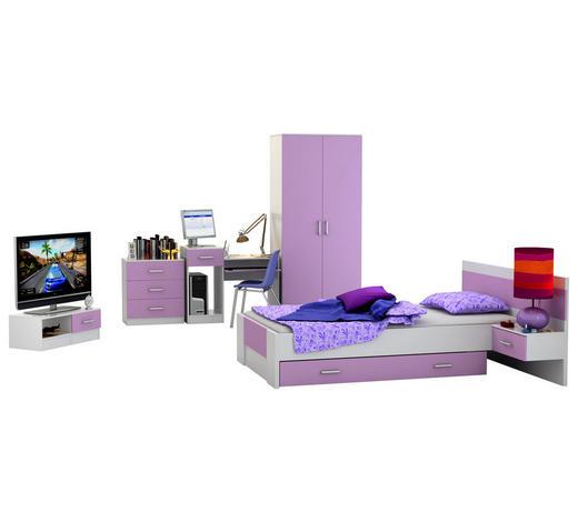 SOBA ZA MLADE - bijela/ljubičasta, Design, drvni materijal (500/200/206cm) - Boxxx