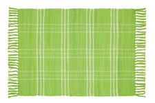 Handwebteppich Flora 60x90 cm - Grün, Textil (60/90cm) - Ombra