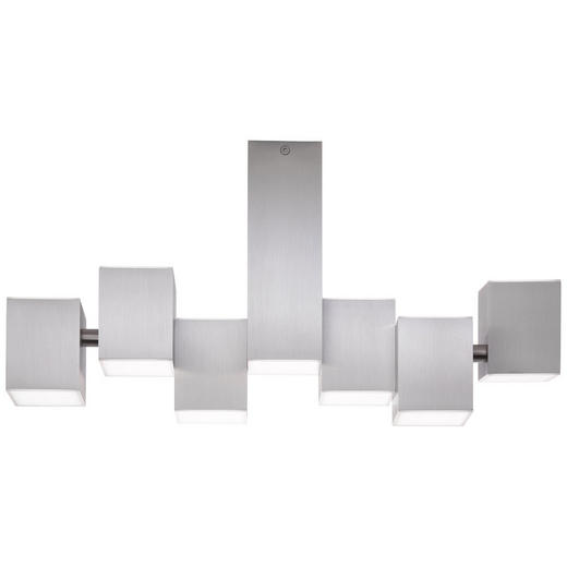 LED-DECKENLEUCHTE - Alufarben, MODERN, Kunststoff/Metall (30/20/52cm)