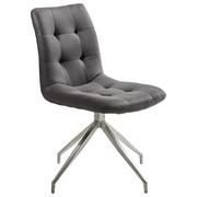ŽIDLE, kov, textil, barvy nerez oceli, tmavě šedá, - tmavě šedá/barvy nerez oceli, Design, kov/textil (47/86,5/62cm) - Xora