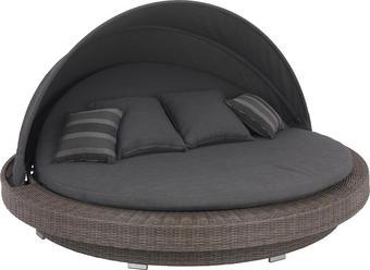 GARTENMUSCHEL - Grau, Design, Kunststoff/Textil (218/127/218cm) - AMATIO