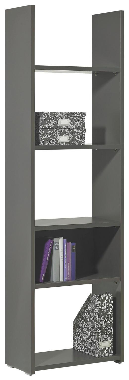 REGAL Anthrazit - Anthrazit/Grau, Design, Holzwerkstoff/Kunststoff (56/184/29cm) - Carryhome