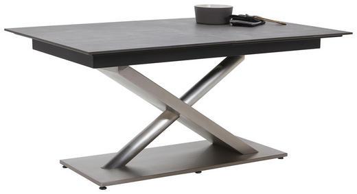 ESSTISCH in Holzwerkstoff, Metall 140(190)/100/77 cm - Edelstahlfarben/Dunkelgrau, Design, Holzwerkstoff/Metall (140(190)/100/77cm) - Dieter Knoll