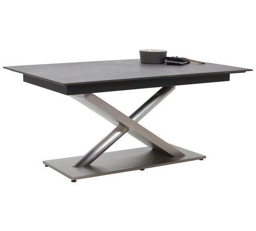 ESSTISCH in Holzwerkstoff, Metall 180(240)/100/77 cm - Edelstahlfarben/Dunkelgrau, Design, Holzwerkstoff/Metall (180(240)/100/77cm) - Dieter Knoll
