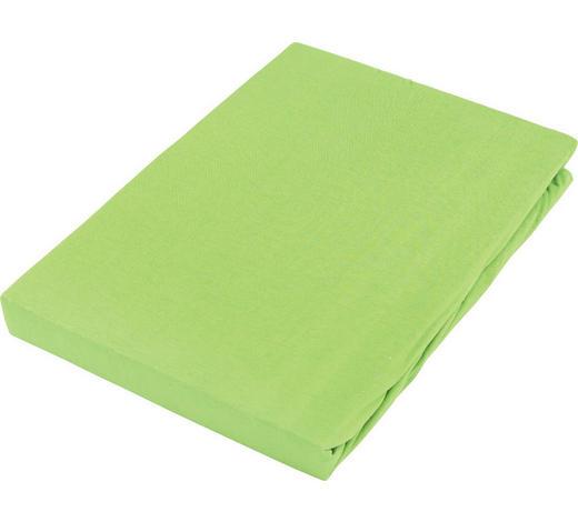 PROSTĚRADLO NAPÍNACÍ, žerzej, 100/200 cm - zelená, Basics, textil (100/200cm) - Boxxx
