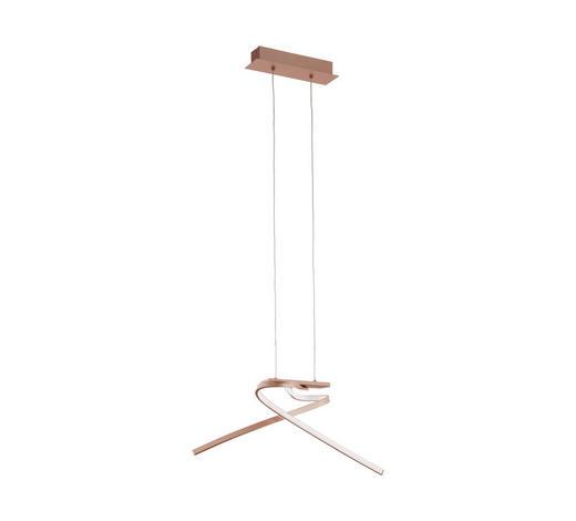 LED-HÄNGELEUCHTE - Goldfarben/Rosa, Design, Kunststoff/Metall (70,5/31,5/110cm)