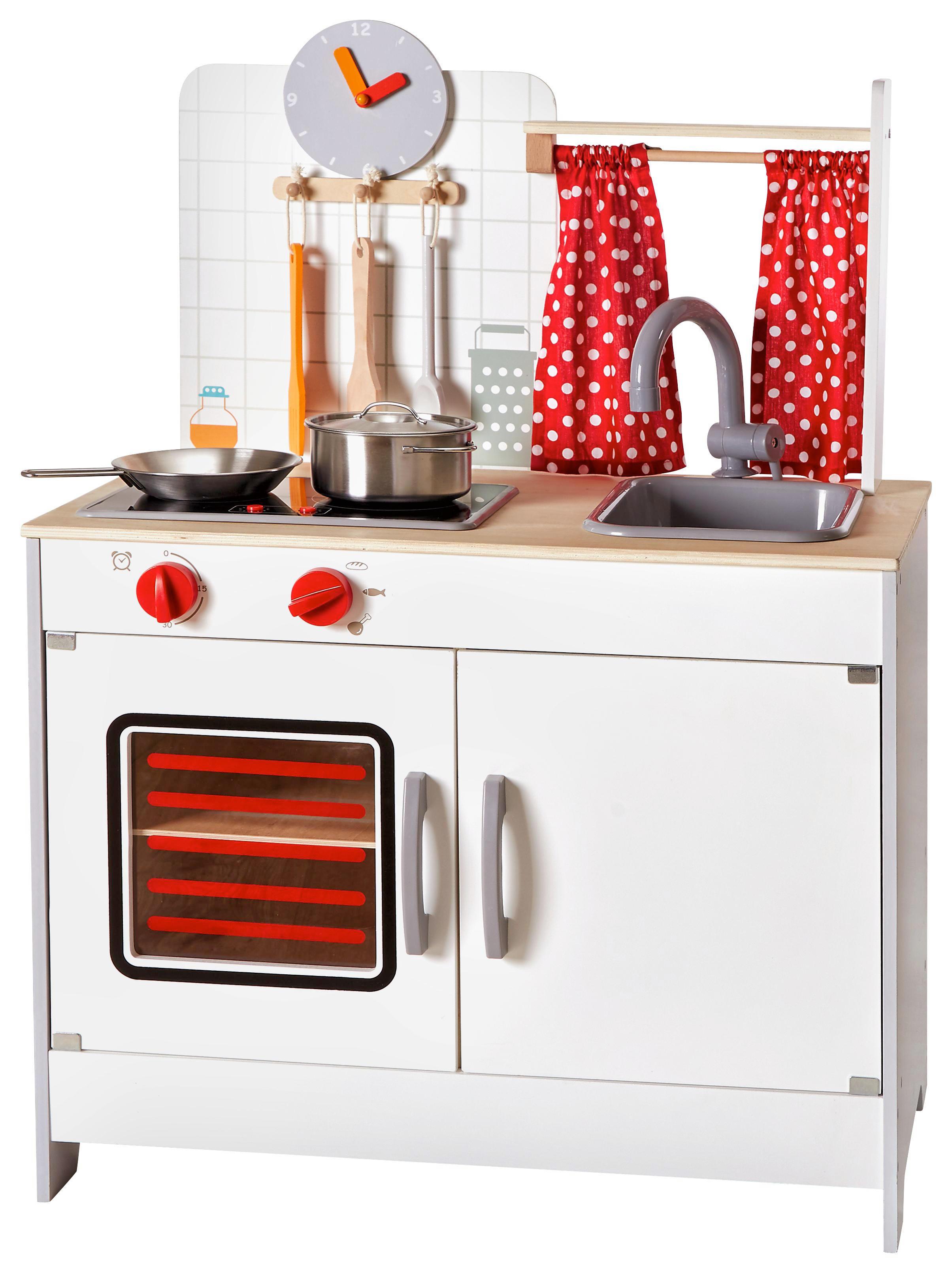 Kleinkindspielzeug Holz-Kinder-Küche Kinderküche rot mit ...