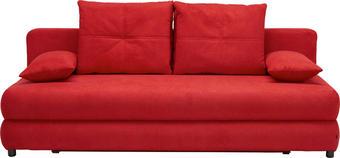 ROZKLÁDACÍ POHOVKA, červená, textil, - černá/červená, Design, textil/umělá hmota (208/73-90/102cm) - Hom`in