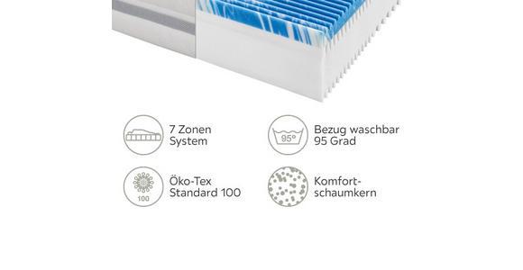 KOMFORTSCHAUMMATRATZE 90/200 cm  - Weiß, Basics, Textil (90/200cm) - Sleeptex