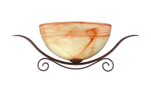 WANDLEUCHTE - Braun, Design, Glas/Metall (52 21 15cm)