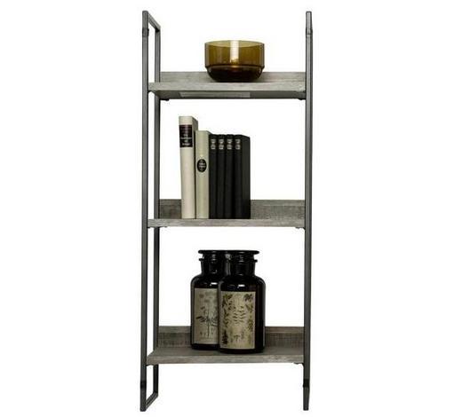 WANDREGAL - Schwarz/Braun, Design, Holzwerkstoff/Metall (35/84/23cm) - Ti`me