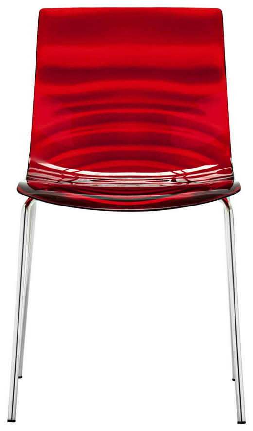 STUHL in Kunststoff Rot - Rot, Trend, Kunststoff/Metall (47,5 80 55cm)
