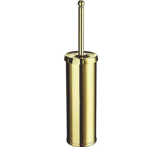 WC-BÜRSTENGARNITUR in Metall - Goldfarben, Basics, Kunststoff/Metall (0/42,5cm)