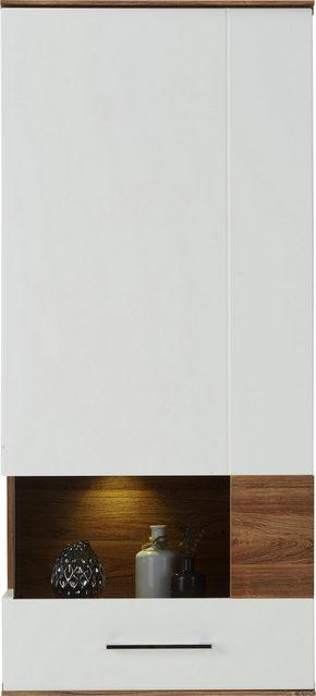 VÄGGHÄNGD MODUL - vit, Design, trä (60/133/37cm) - Premium Living