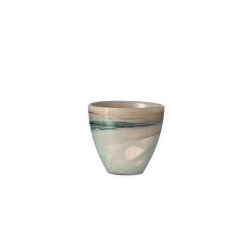 TEELICHTHALTER - Beige, Design, Glas (10/9/cm) - Leonardo