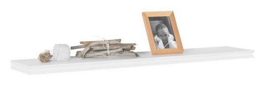 VÄGGHYLLA, 120 CM - vit, Lifestyle, träbaserade material (120/3,8/23cm) - LANDSCAPE