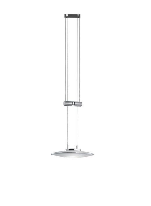 LED-HÄNGELEUCHTE - Nickelfarben, Design, Metall (24x13/150cm) - BANKAMP