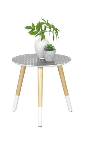 AVLASTNINGSBORD - vit/svart, Design, trä/träbaserade material (40/40cm) - Carryhome