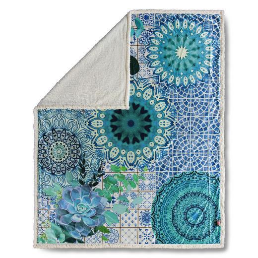 PLAID 130/160 cm Blau - Blau, Trend, Textil (130/160cm)