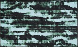 FUßMATTE 75/120 cm Graphik Hellblau, Schwarz - Schwarz/Hellblau, Basics, Kunststoff/Textil (75/120cm) - Esposa