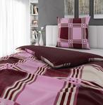 BETTWÄSCHE Biber Rot 135/200 cm  - Rot, Design, Textil (135/200cm) - Esposa