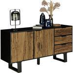 SIDEBOARD 150/75/40 cm  - Schwarz/Naturfarben, LIFESTYLE, Holz/Metall (150/75/40cm) - Ambia Home