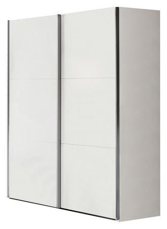 SCHWEBETÜRENSCHRANK 2  -türig Weiß - Weiß/Grau, Basics, Holzwerkstoff/Metall (150,8/200,3/63,3cm) - XORA