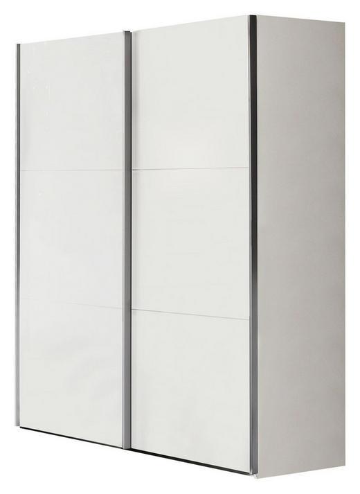 SCHWEBETÜRENSCHRANK in Weiß - Weiß/Grau, KONVENTIONELL, Holzwerkstoff/Metall (150,8/200,3/63,3cm) - Xora