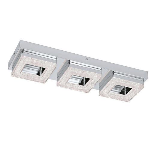 LED-DECKENLEUCHTE - Klar/Chromfarben, Design, Kunststoff/Metall (46/14/6cm) - Novel