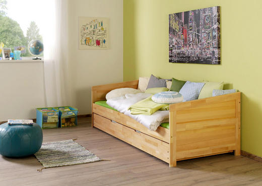 AUSZIEHBETT Buche massiv Naturfarben - Naturfarben, Design, Holz (90/200cm)