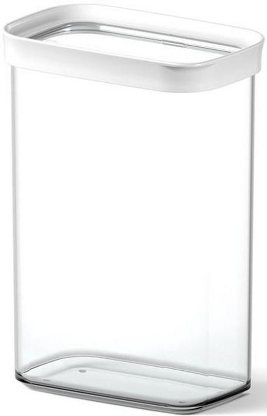 VORRATSDOSE 2,2 L - Transparent/Weiß, Basics, Kunststoff (2.20l) - Emsa