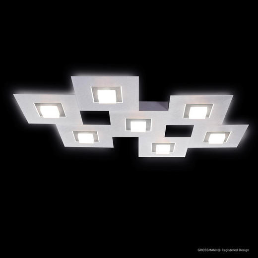 LED-DECKENLEUCHTE - Titanfarben/Alufarben, MODERN, Metall (80/60/5,3cm)