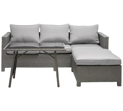 RELAXAČNÍ SESTAVA NA TERASU - šedá/černá, Design, kov/textil (191/165cm) - Ambia Garden
