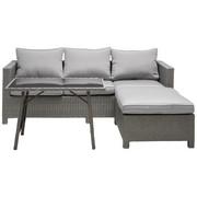 RELAXAČNÍ SESTAVA NA TERASU - šedá/černá, Design, kov/textilie (191/165cm) - Ambia Garden